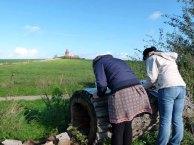 Malen am Leuchtturm von Barstorf (c) Frank Koebsch (2)