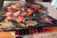 Immerwieder der Abgleich der Farben für die Blüten des Sebnitzer Flussteufels (c) Frank Koebsch