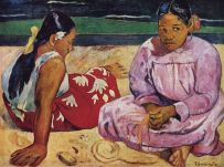 Frauen am Strand - Paul Gauguin 1891