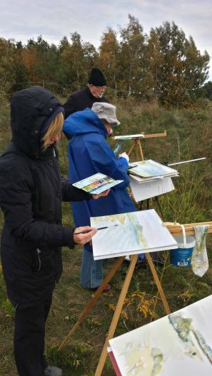 Malen auf der Steilküste beim Schafsberg bei Middelhagen (c) Frank Koebsch (2)