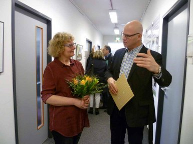 Hanka Koebsch und Amtsleiter des StALU MM Jean Weiß in der Ausstellung Wildes Land i(c) Anke Streichert