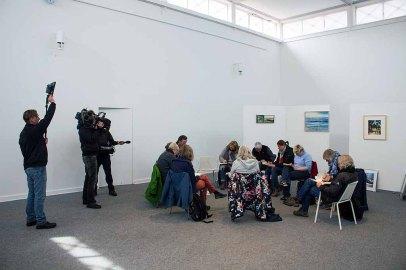 Der NDR begleitet die Gruppe der Urban Sketcher beim Plein Air Festival (c) FRank Koebsch