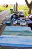 Plein Air Aquarellmalerei am Leuchtturm Bastorf (c) FRank Koebsch (3)