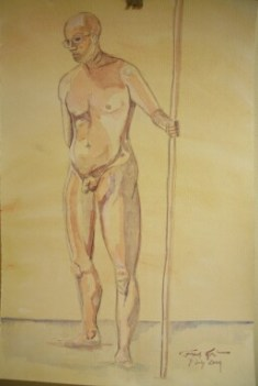 Standing Nude with Staff