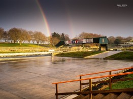 Puke Park with rainbows by Paul Smith