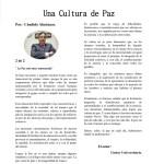 Una cultura de paz -La Paz está amenazada. Artículo 2 de 2, por Cándido Almánzar