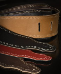 Reversible Guitar Strap - 3-ply Glove Leather
