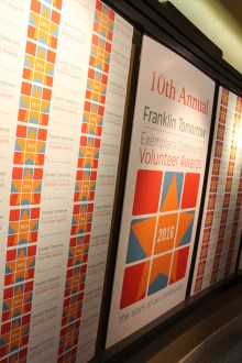 The beautiful event wall at the Franklin Theatre
