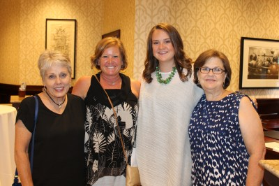 Youth Initiative Award recipient Kate Shelton with her family.