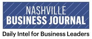 NBJ Pinstripe logo with tagline