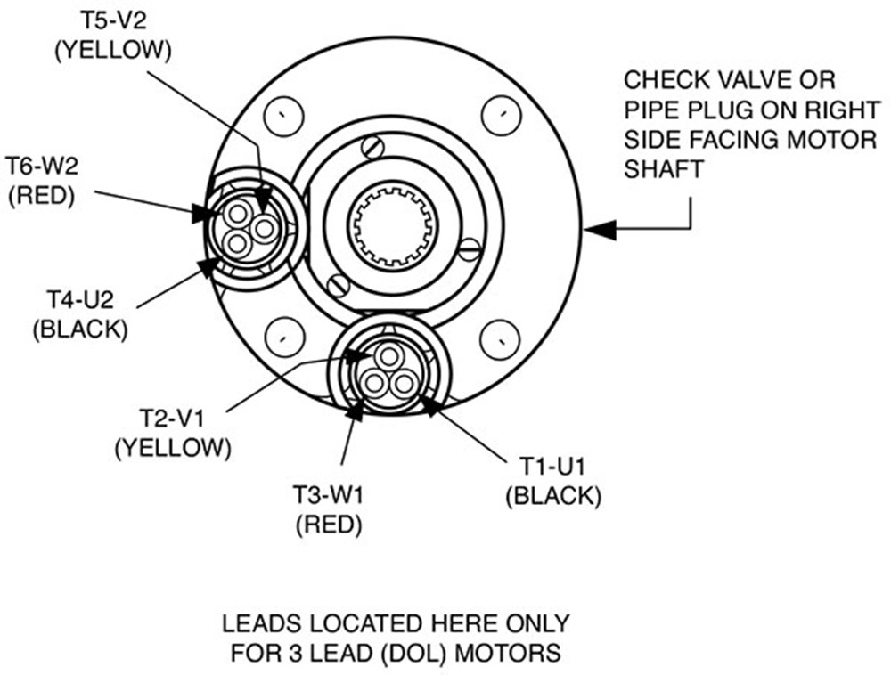 Six lead motor wiring diagram images