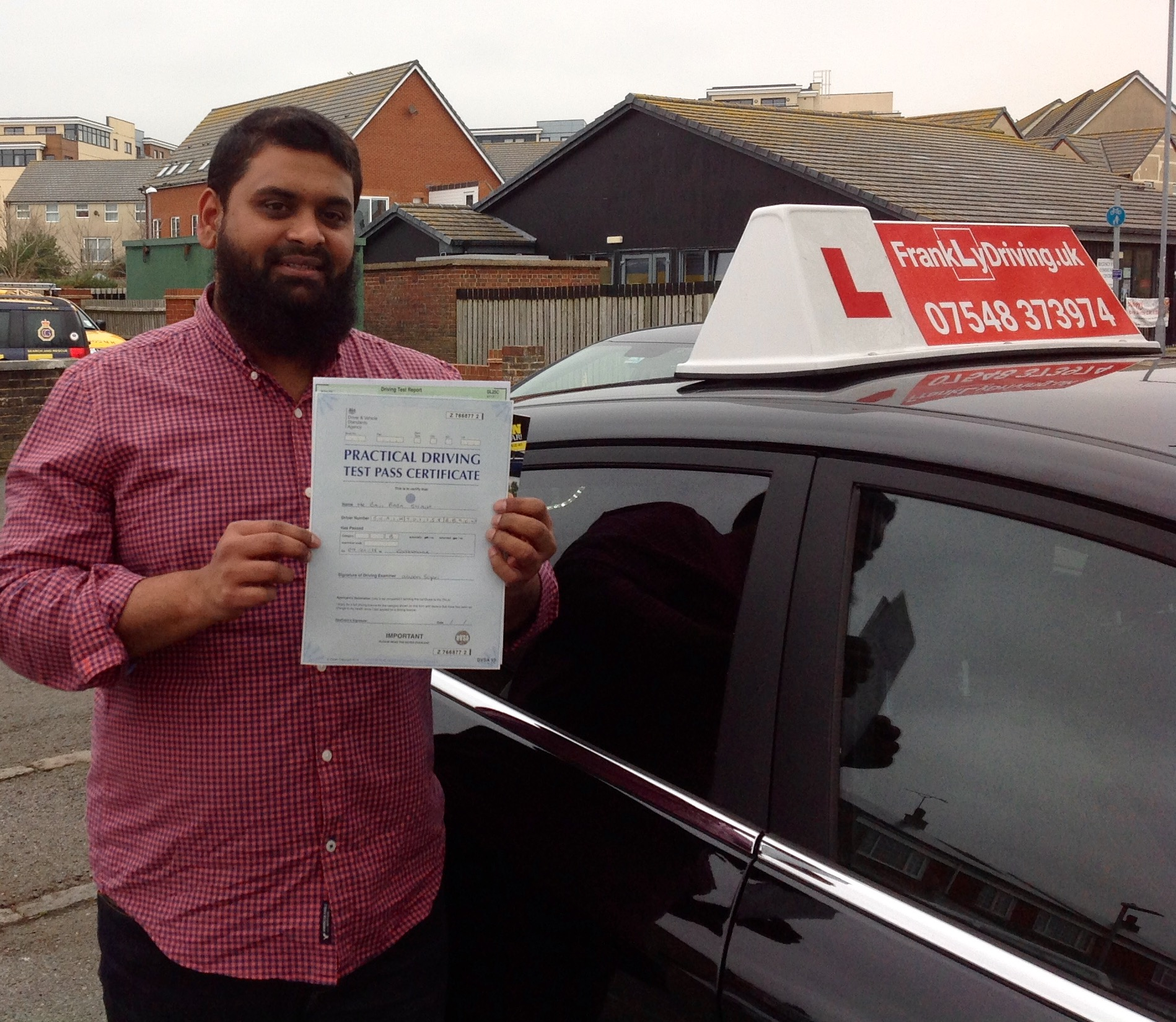 Congratulations Baji for passing your Driving Test