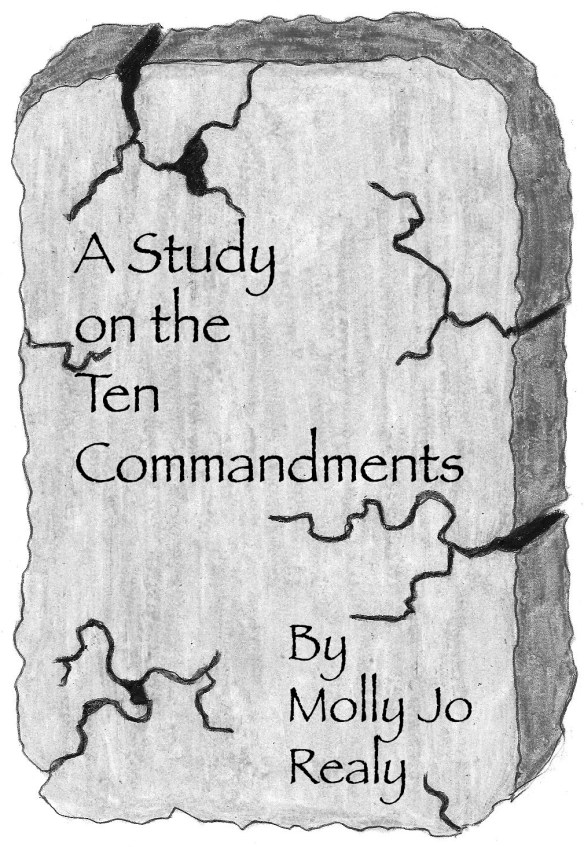 Stone slab Cover art for A STUDY ON THE TEN COMMANDMENTS by Molly Jo Realy