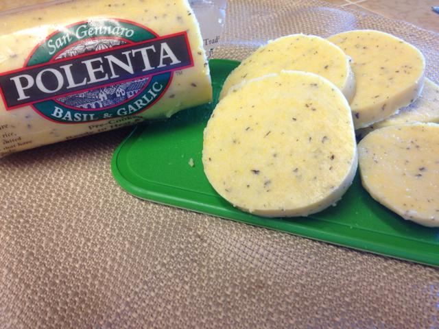 Polenta, sliced