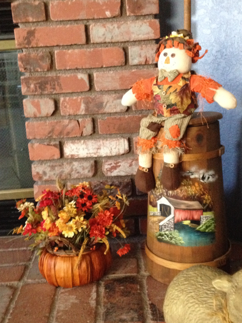 Scarecrow on Butter Churn