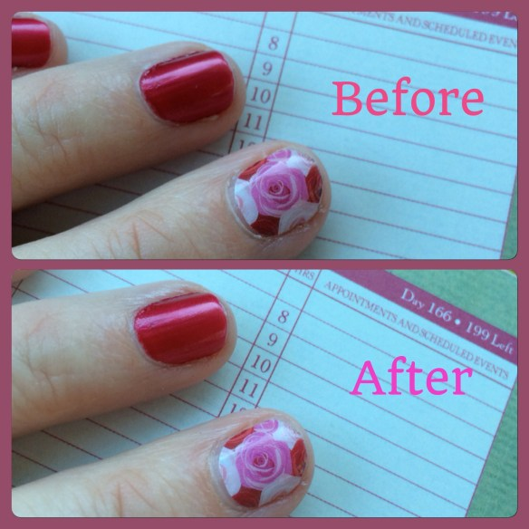 Thirty seconds: Before and After Jamberry Cuticle Oil