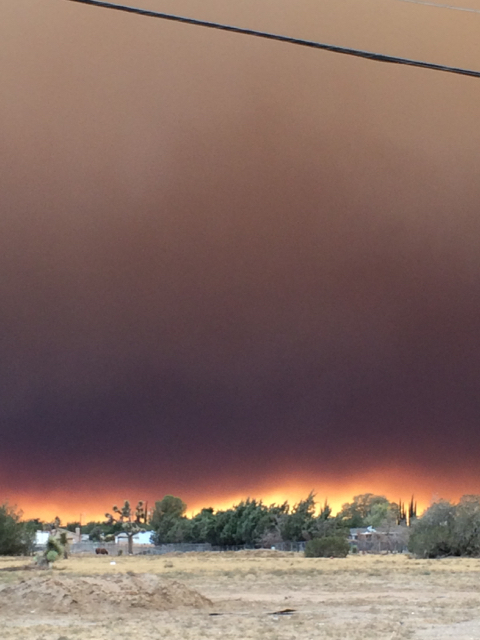 Blue Cut Fire, Day 1. Around 5:20 pm, Main Street, Hesperia, CA.