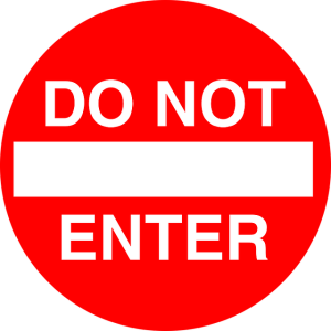 Frankly, My Dear . . . : Do Not Enter