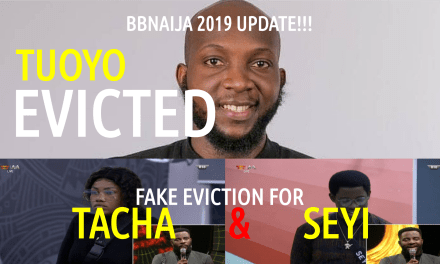 BBNaija 2019 3rd Eviction Update – Tuoyo Evicted
