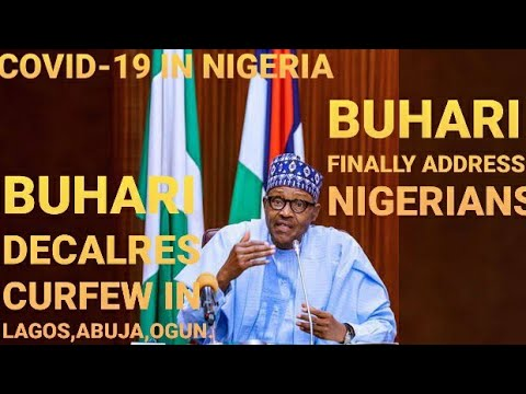 BUHARI LIVE BROADCAST | BREAKING NEWS | PRESIDENT FINALLY ADDRESS NIGERIANS ON COVID-19 | CURFEW IN LAGOS, ABUJA, OGUN