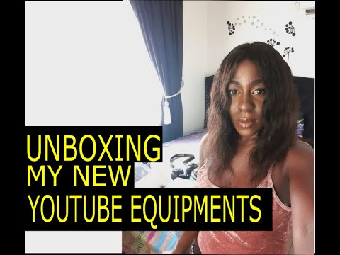 HOW I STARTED MY YOUTUBE CHANNEL   UNBOXING MY NEW YOUTUBE EQUIPMENT