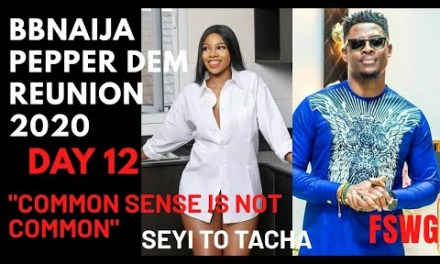 "BBNAIJA REUNION 2020 DAY 12 | ""COMMON SENSE IS NOT COMMON"" SEYI 2 TACHA! AVALA ISILOMO FIGHT OVER MAN!"