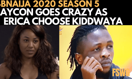 BBNAIJA 2020: LAYCON GOES  CRAZY OVER ERICA CHOOSING KIDDWAYA