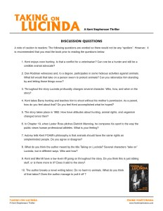 Taking on Lucinda Discussion Questions