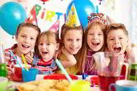 Joyful children with balloons