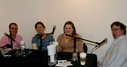 Zefrey Throwell, Susanne Cockrell, Liz Thomas, and TedPurves