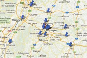 Mehrere Orte in Google Maps markieren