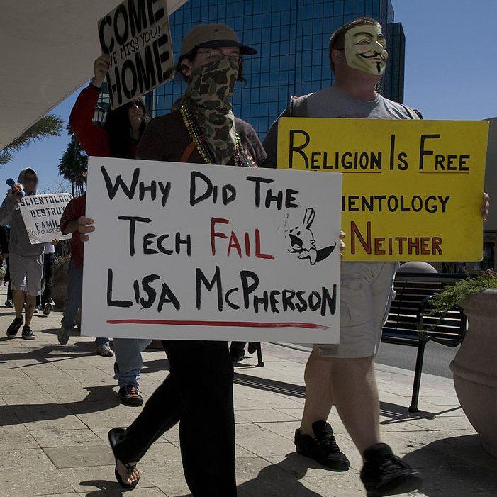 Protestors against Scientology