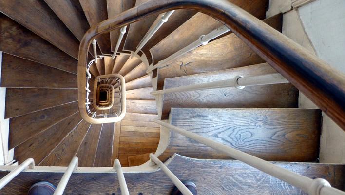 Trappen lopen in Parijs