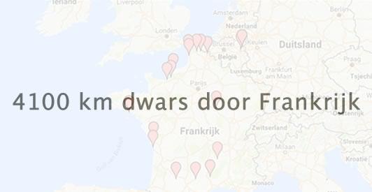 4100 kilometer dwars door Frankrijk