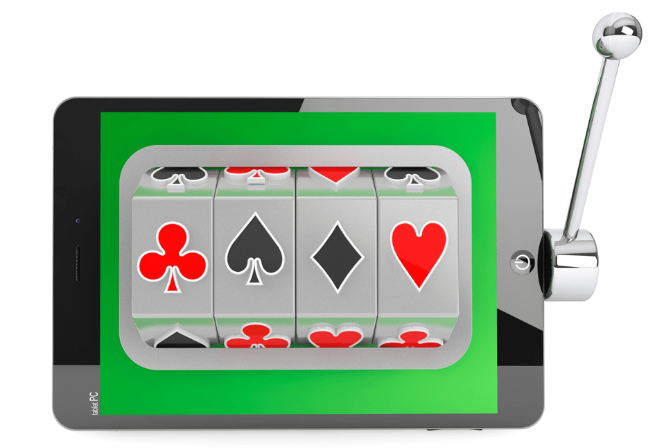 Slot Machine game inside of a cell phone or tablet