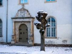 Der Innenhof von Schloss Wiesenburg