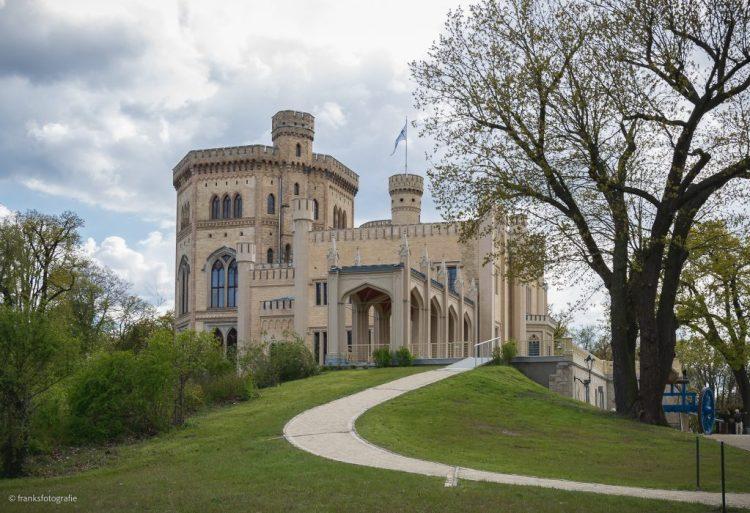 Schloss Babelsberg von Osten mit Blauer Terrasse