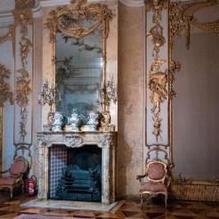 Kamin im sog. Jagdzimmer, das von Auguste Victoria als Wohn- und Schreibzimmer genutzt wurde