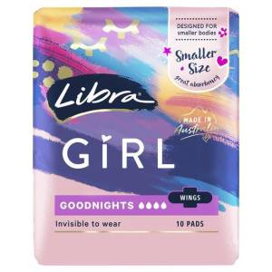 Libra Girl Good Night Pads With Wings 10 pack