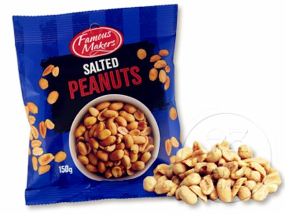 Famous Makers Salted Peanuts 150g