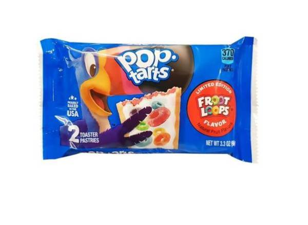 Pop Tarts Fruit Loops Flavoured Toaster Pastries 96g Packet