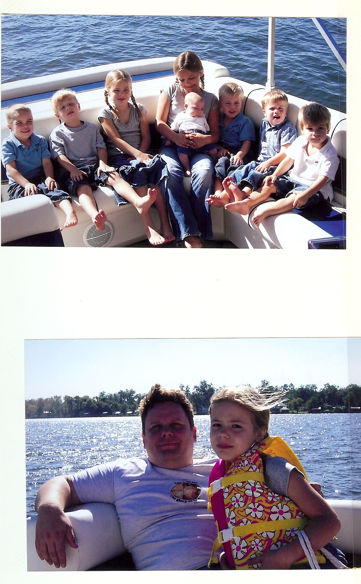 Two pics from Family Vacation on False River. Top:Nieces & Nephews, Bottom: Anika & I