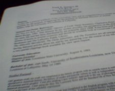 my curriculum vitae shows work with radio, film, journal, newspapers and lots of public speaking.
