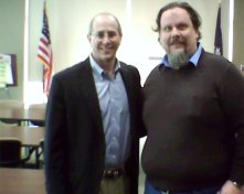 Dr. Boustany and I at a town hall meeting. This was several years ago.