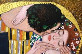 Kiss painting Klimt