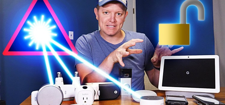 Breaking Into a Smart Home With A Laser