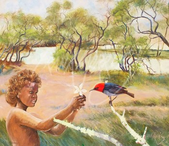 (KY398) An offering on the Edge, Jardine River 37x42.5 cm $225