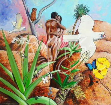 (Y744) Love Among the Boulders 90 x 90 cm $425