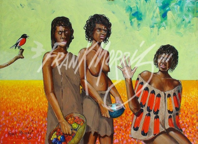 (Y704) She Refuses Food Offered by the Tribe 80 x 110 cm $350