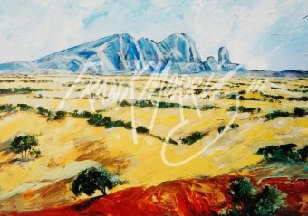 (YPK154) 79 x 100 cm Looking Back at Mt Sonder $400